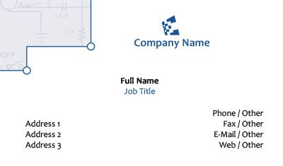 Network Business Card Template
